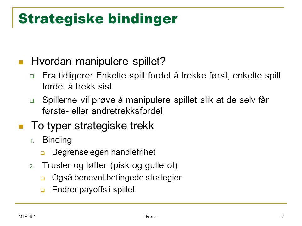 Strategiske bindinger