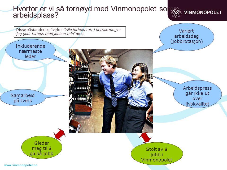 Hvorfor er vi så fornøyd med Vinmonopolet som arbeidsplass