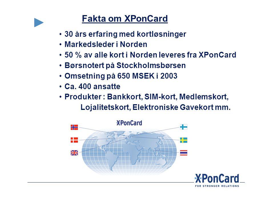 Fakta om XPonCard 30 års erfaring med kortløsninger