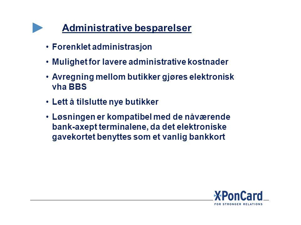 Administrative besparelser
