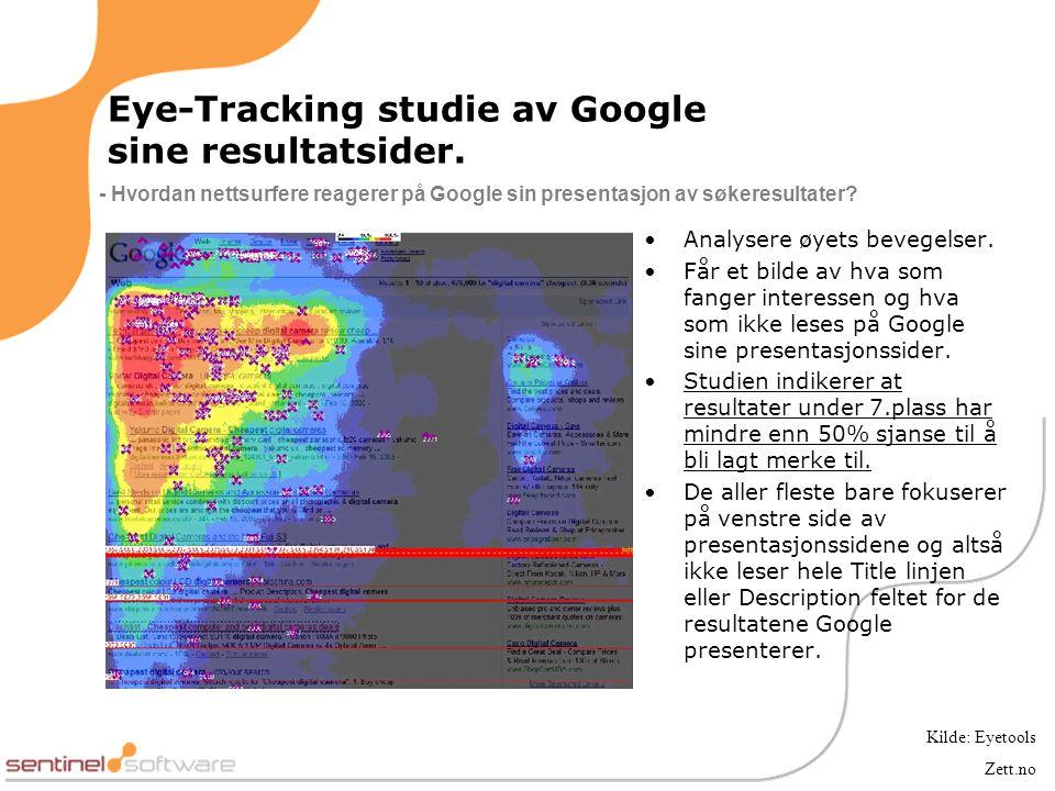 Eye-Tracking studie av Google sine resultatsider.