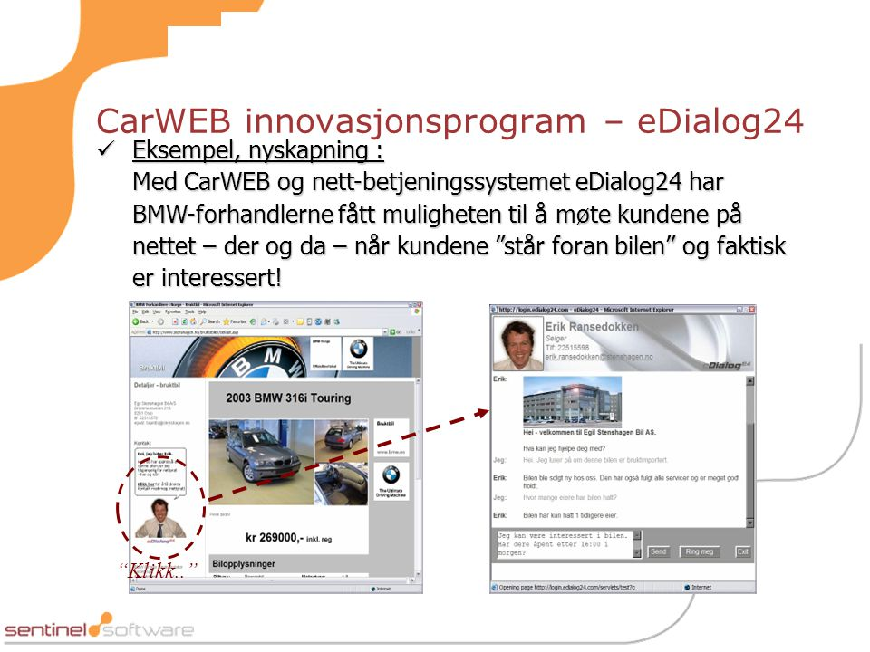 CarWEB innovasjonsprogram – eDialog24