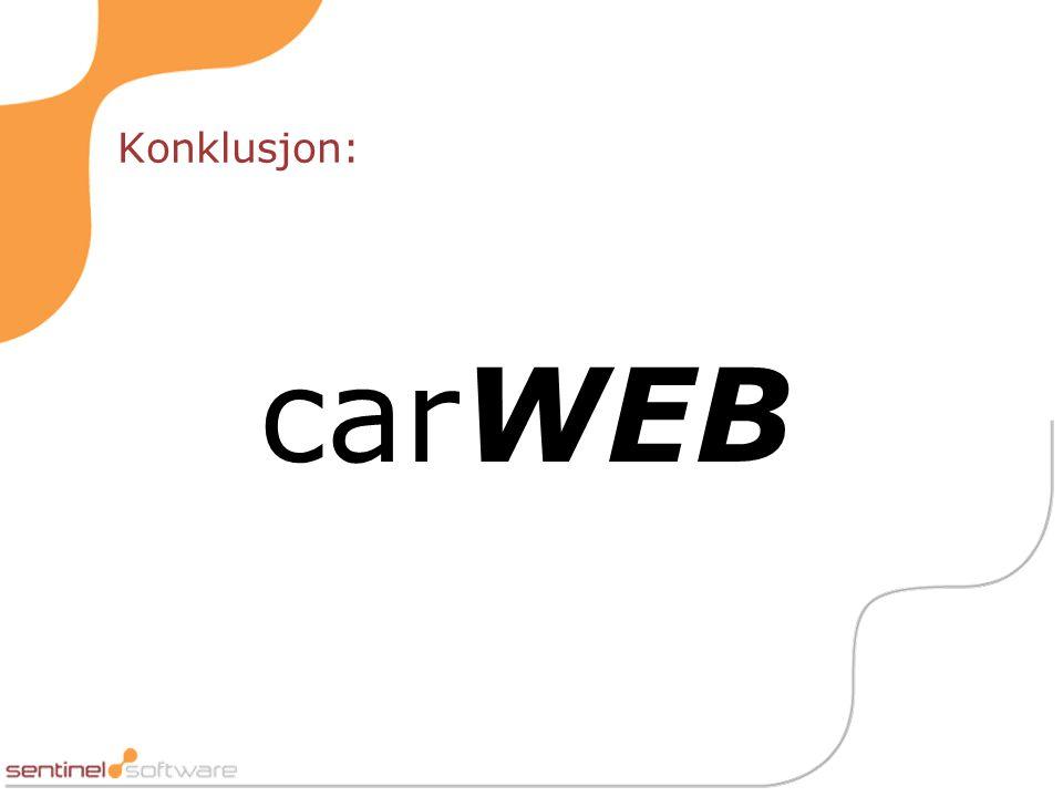 Konklusjon: carWEB