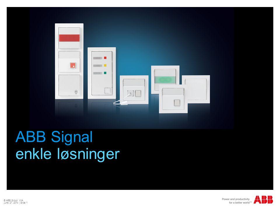 ABB Signal enkle løsninger