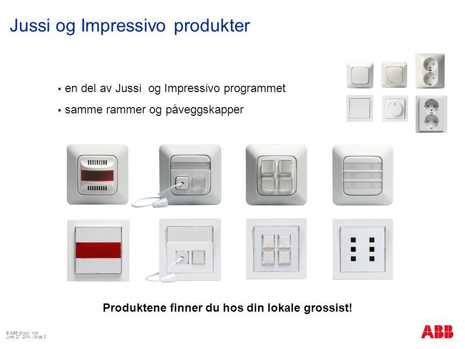 Jussi og Impressivo produkter
