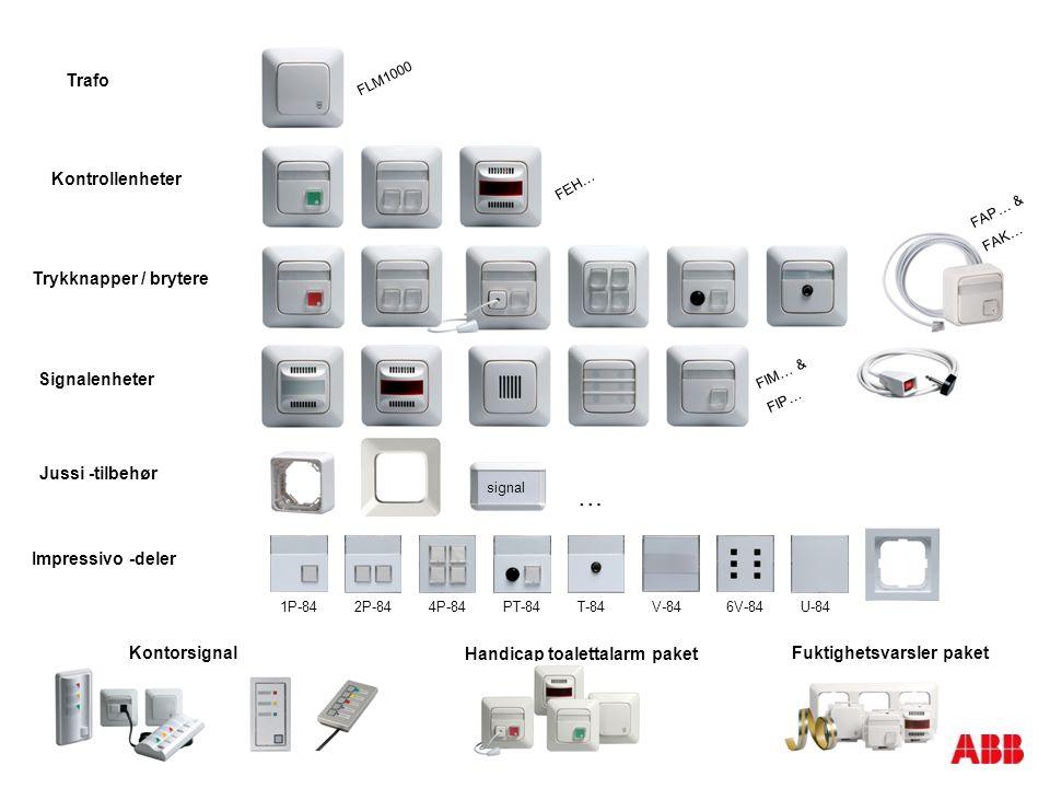 … Trafo Kontrollenheter Trykknapper / brytere Signalenheter