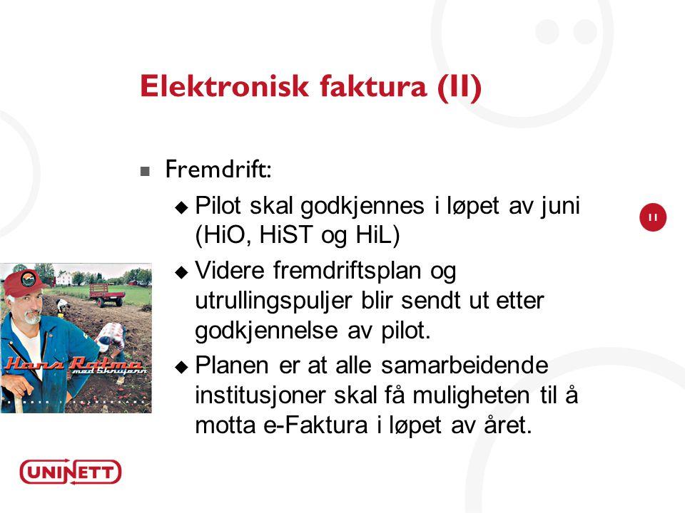 Elektronisk faktura (II)