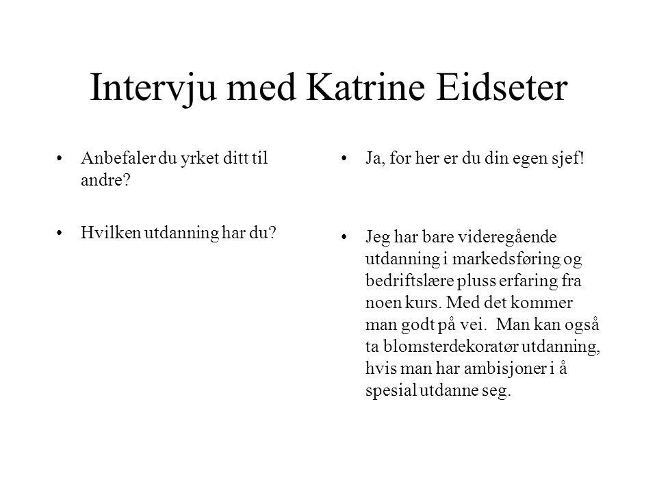 Intervju med Katrine Eidseter