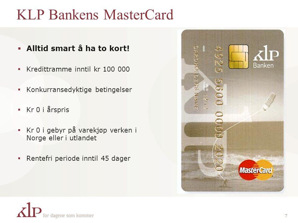 KLP Bankens MasterCard