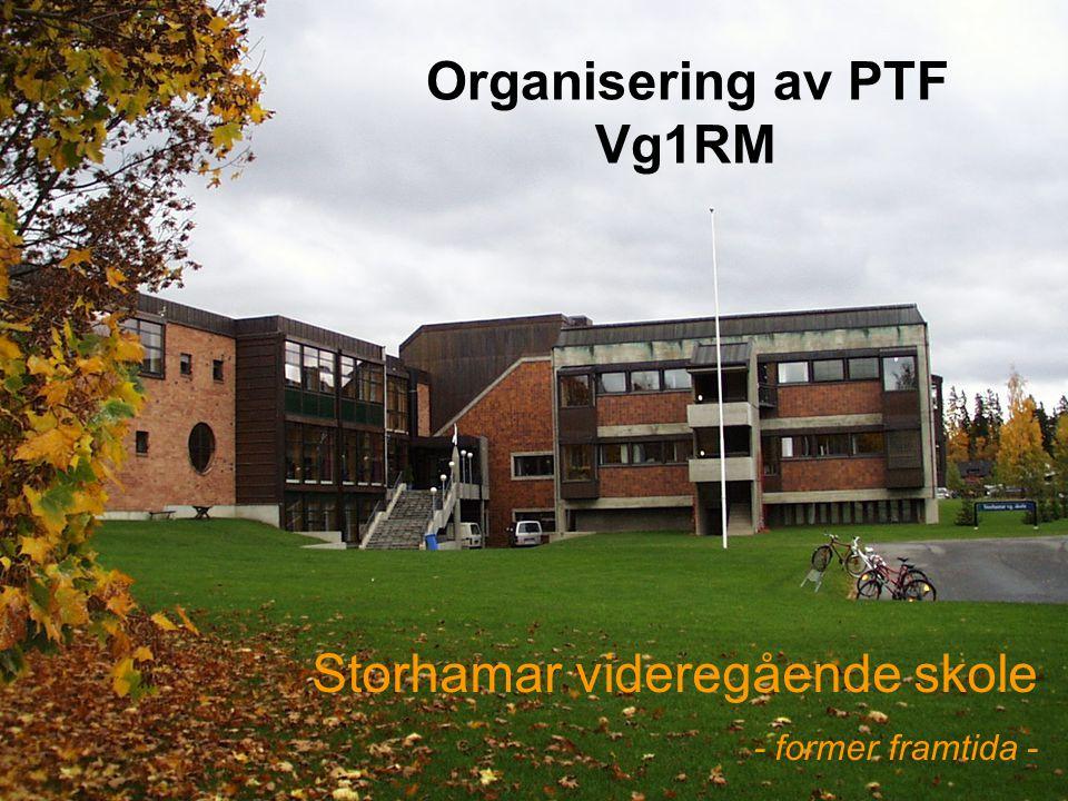 Organisering av PTF Vg1RM