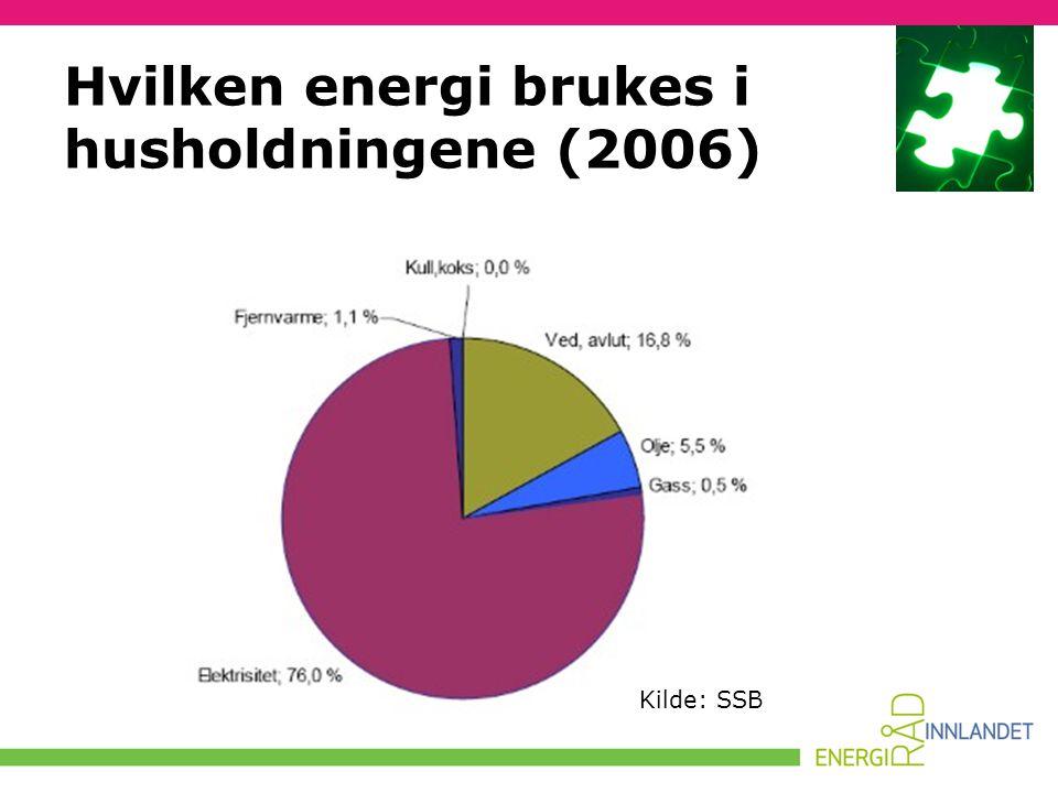 Hvilken energi brukes i husholdningene (2006)