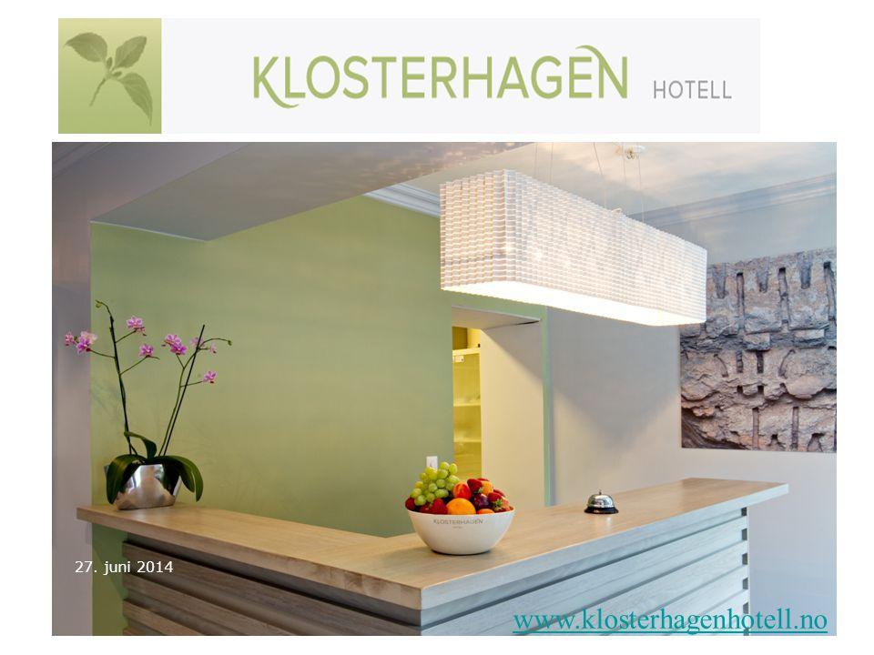 3. april 2017 www.klosterhagenhotell.no