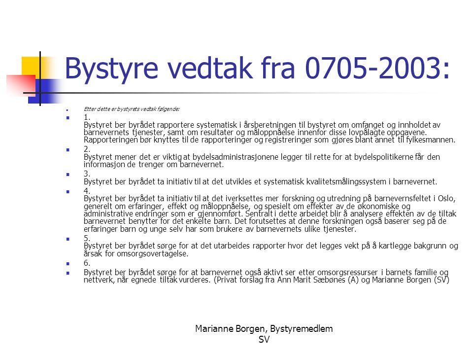 Marianne Borgen, Bystyremedlem SV