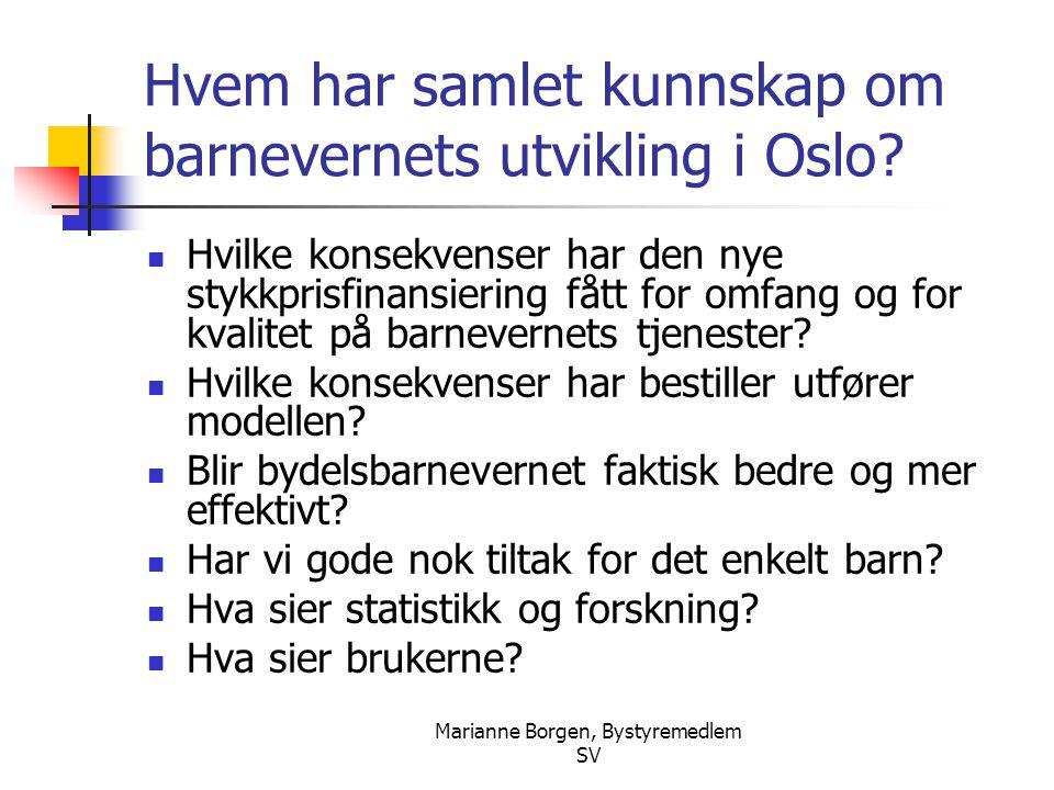 Hvem har samlet kunnskap om barnevernets utvikling i Oslo