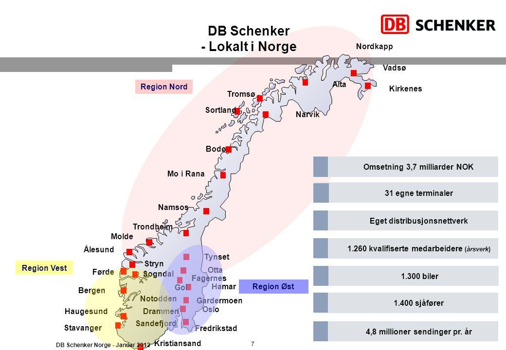 DB Schenker - Lokalt i Norge
