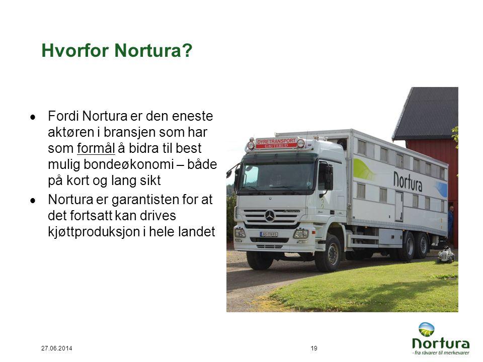 Hvorfor Nortura Fordi Nortura er den eneste aktøren i bransjen som har som formål å bidra til best mulig bondeøkonomi – både på kort og lang sikt.