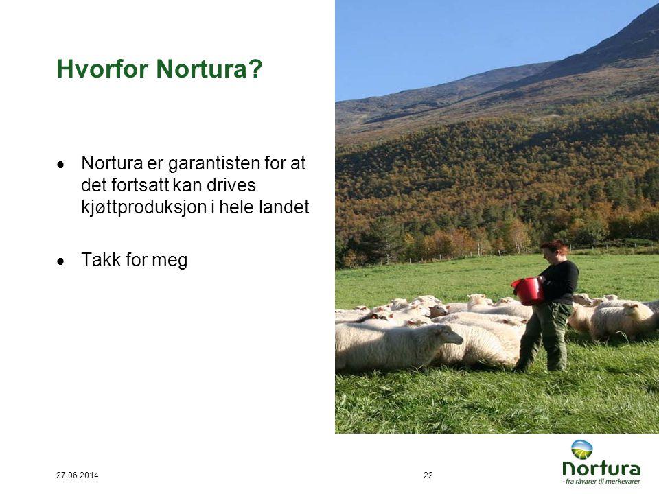 Hvorfor Nortura Nortura er garantisten for at det fortsatt kan drives kjøttproduksjon i hele landet.