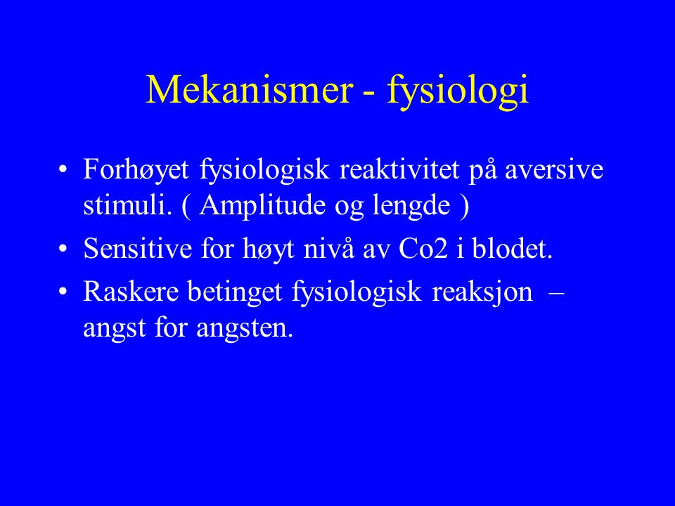 Mekanismer - fysiologi