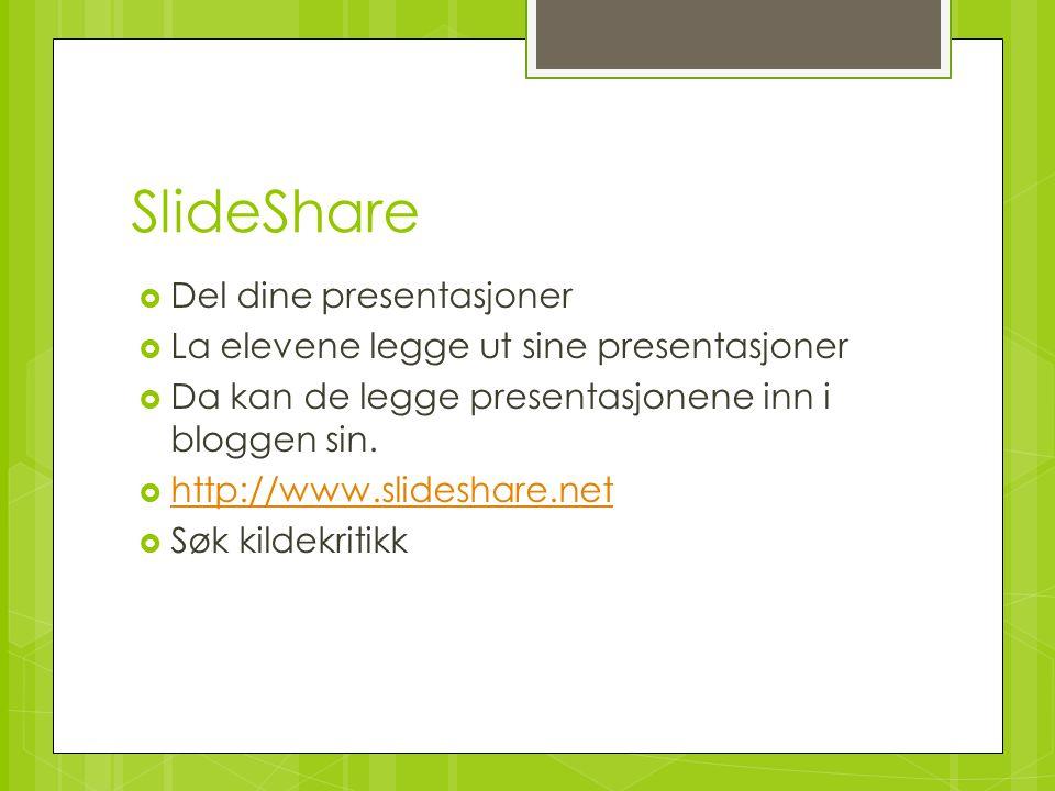 SlideShare Del dine presentasjoner