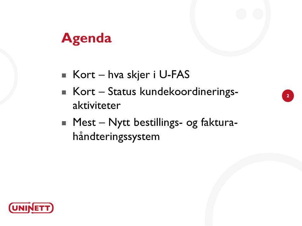 Agenda Kort – hva skjer i U-FAS