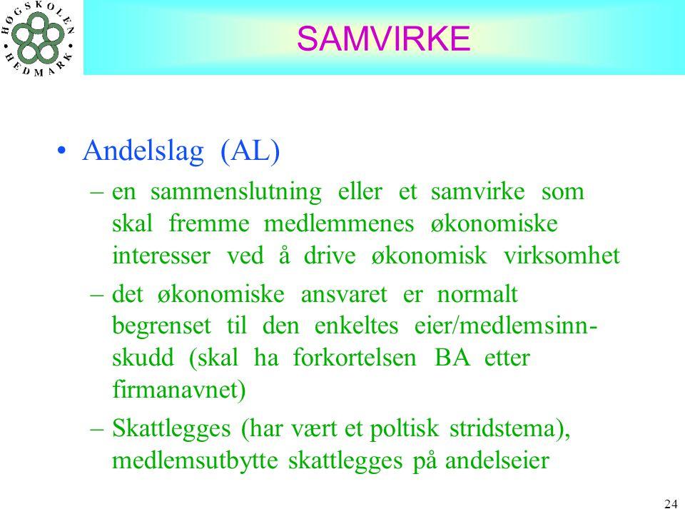 SAMVIRKE Andelslag (AL)