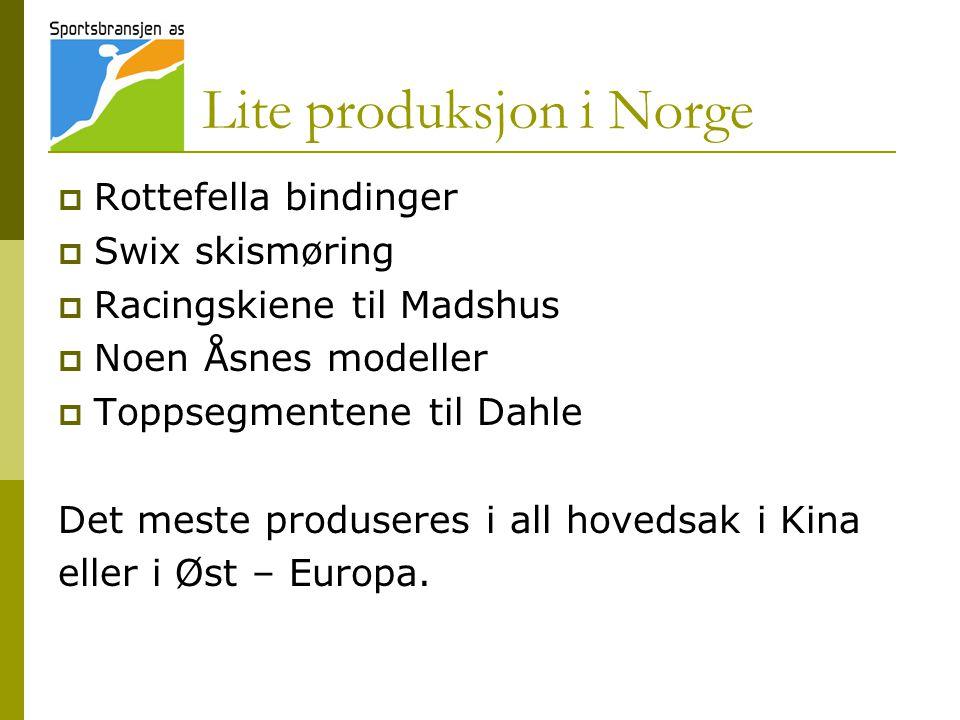 Lite produksjon i Norge