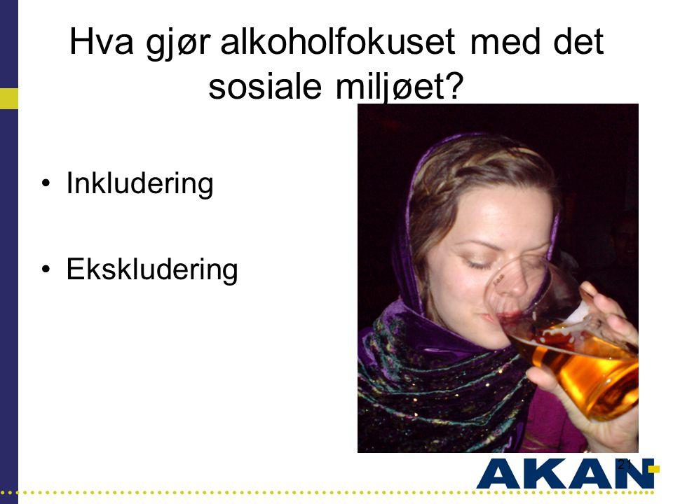Hva gjør alkoholfokuset med det sosiale miljøet