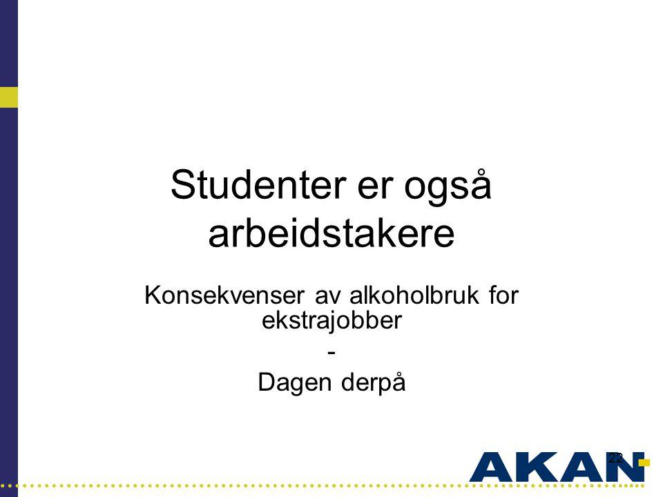 Studenter er også arbeidstakere