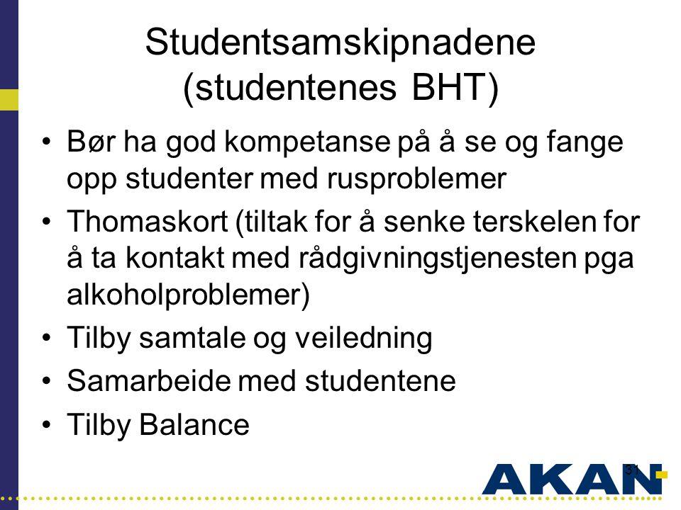 Studentsamskipnadene (studentenes BHT)