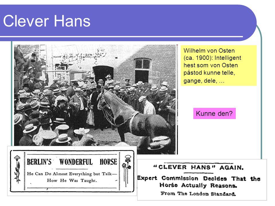 Clever Hans Kunne den Wilhelm von Osten