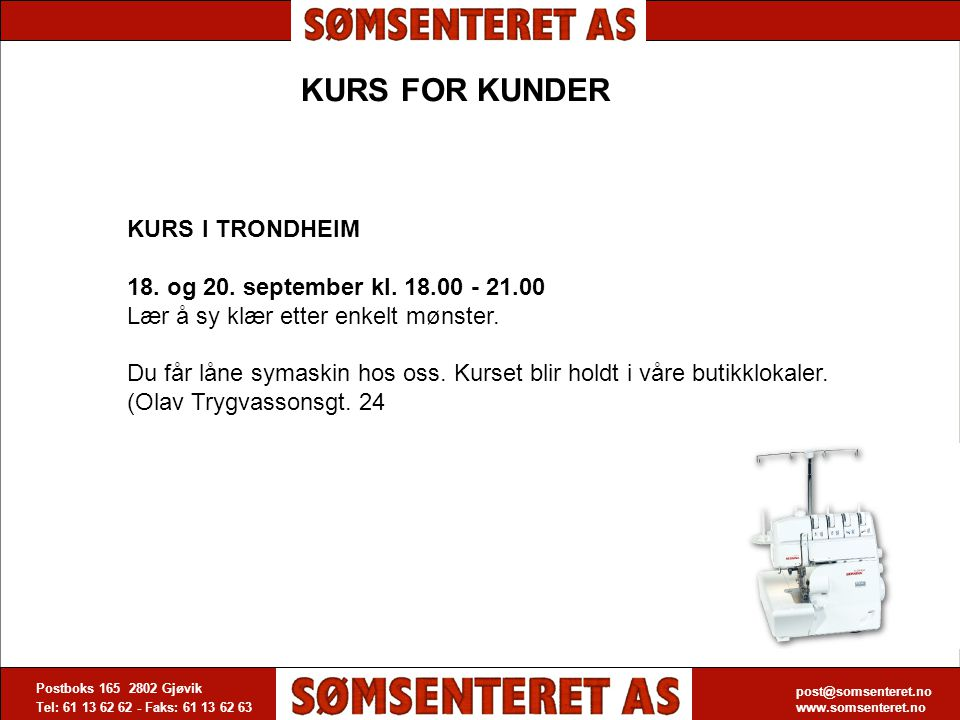 KURS FOR KUNDER