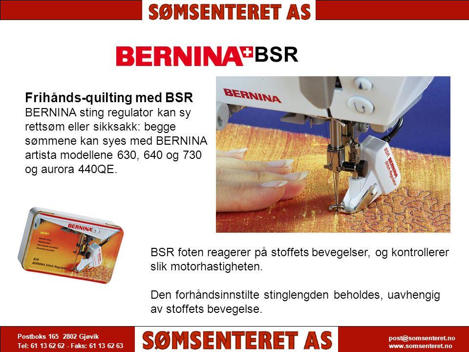 BSR Frihånds-quilting med BSR