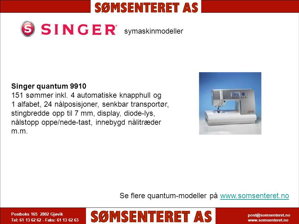 Se flere quantum-modeller på www.somsenteret.no