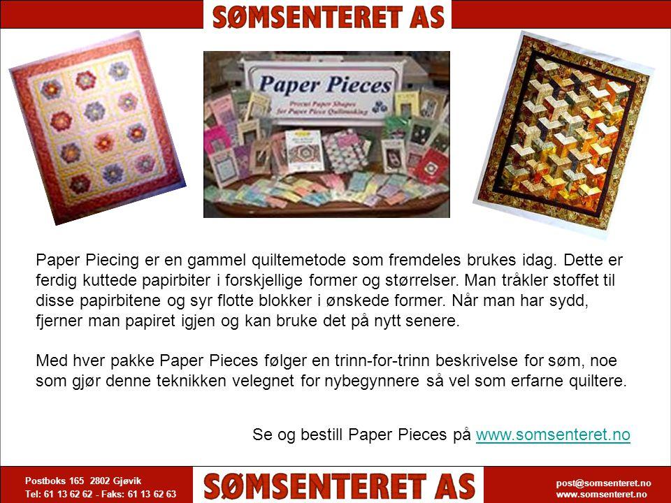 Se og bestill Paper Pieces på www.somsenteret.no