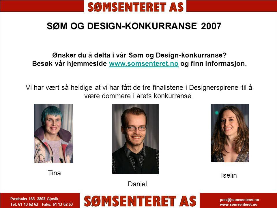 SØM OG DESIGN-KONKURRANSE 2007