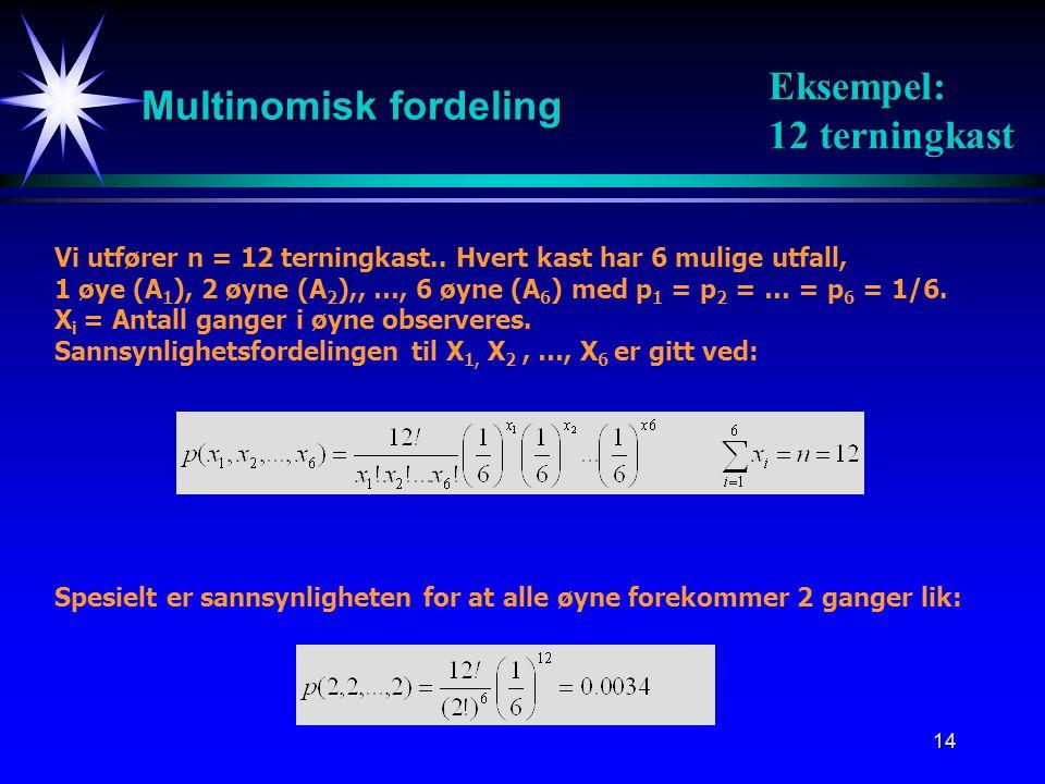 Multinomisk fordeling