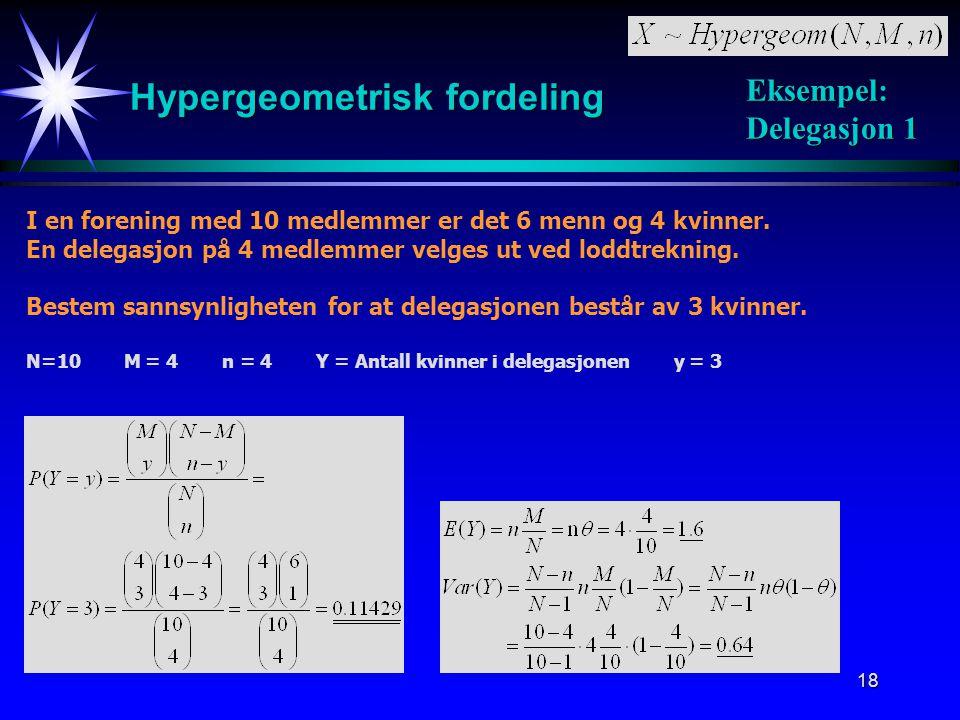 Hypergeometrisk fordeling