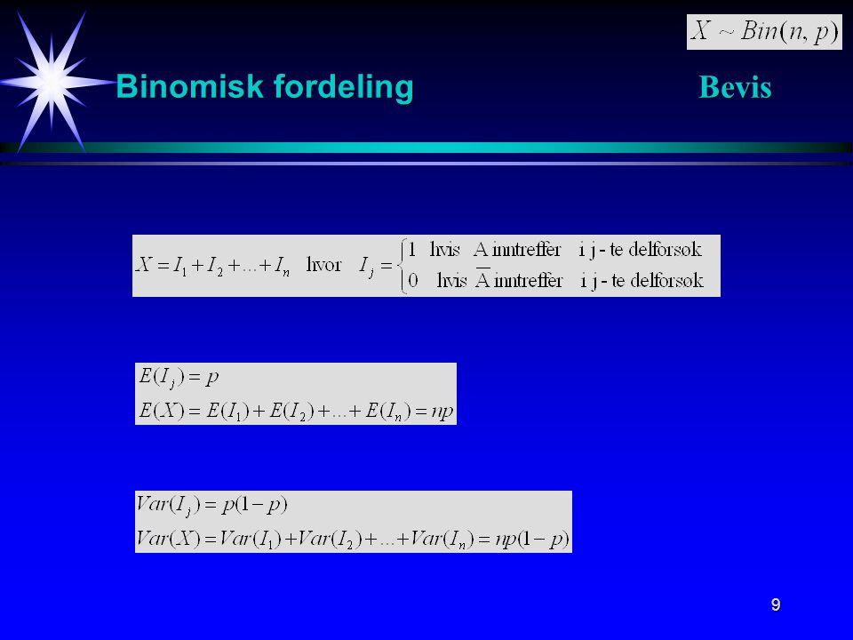 Binomisk fordeling Bevis