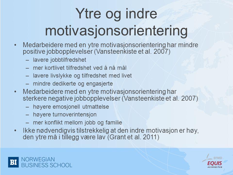 Ytre og indre motivasjonsorientering
