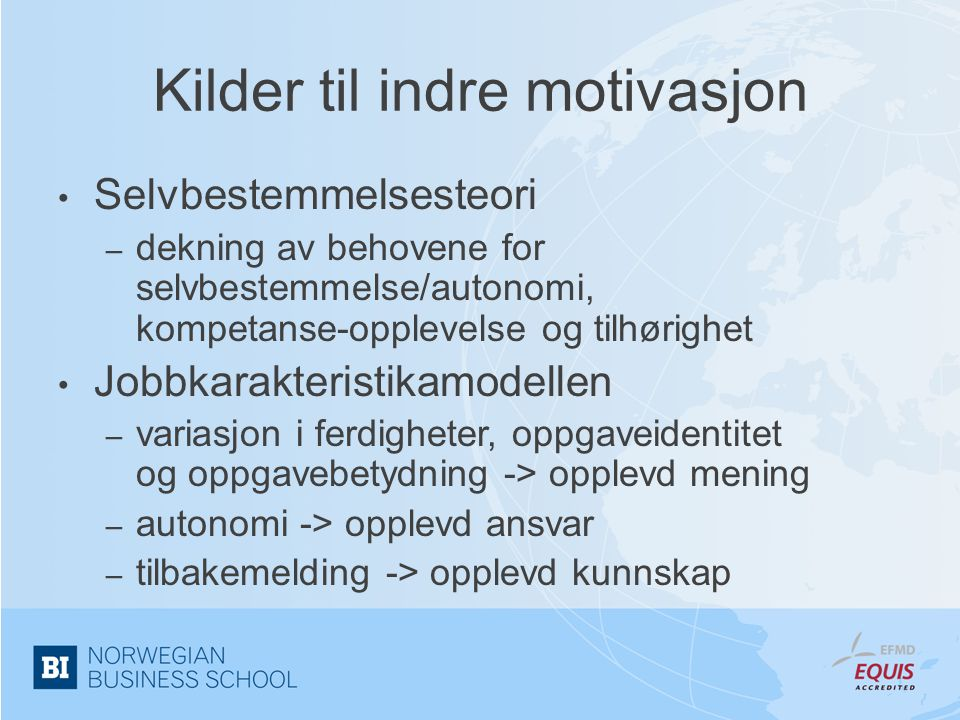 Kilder til indre motivasjon