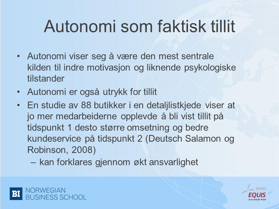 Autonomi som faktisk tillit