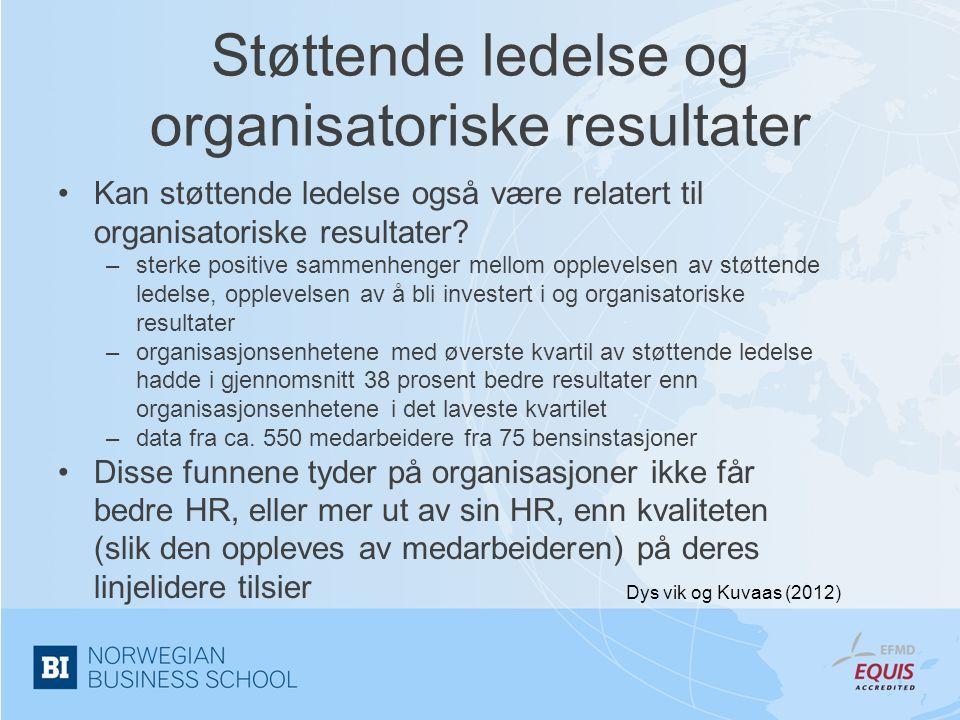 Støttende ledelse og organisatoriske resultater
