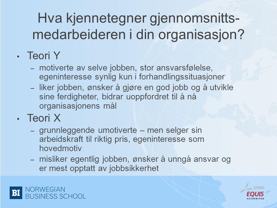 Hva kjennetegner gjennomsnitts-medarbeideren i din organisasjon