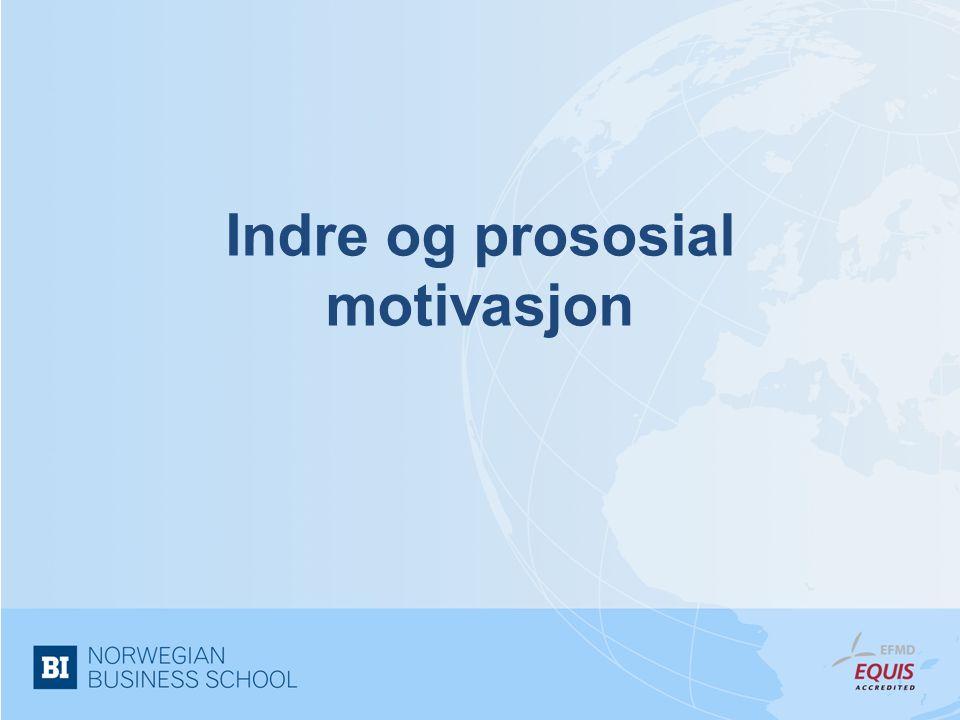 Indre og prososial motivasjon