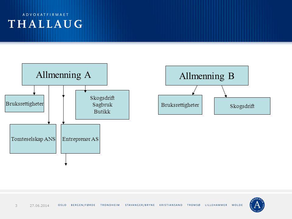 Allmenning A Allmenning B Skogsdrift Sagbruk Butikk Bruksrettigheter