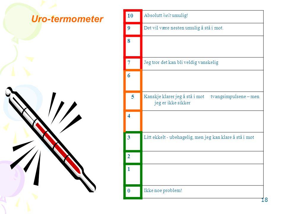 Uro-termometer 10 9 8 7 6 5 4 3 2 1 Absolutt helt umulig!