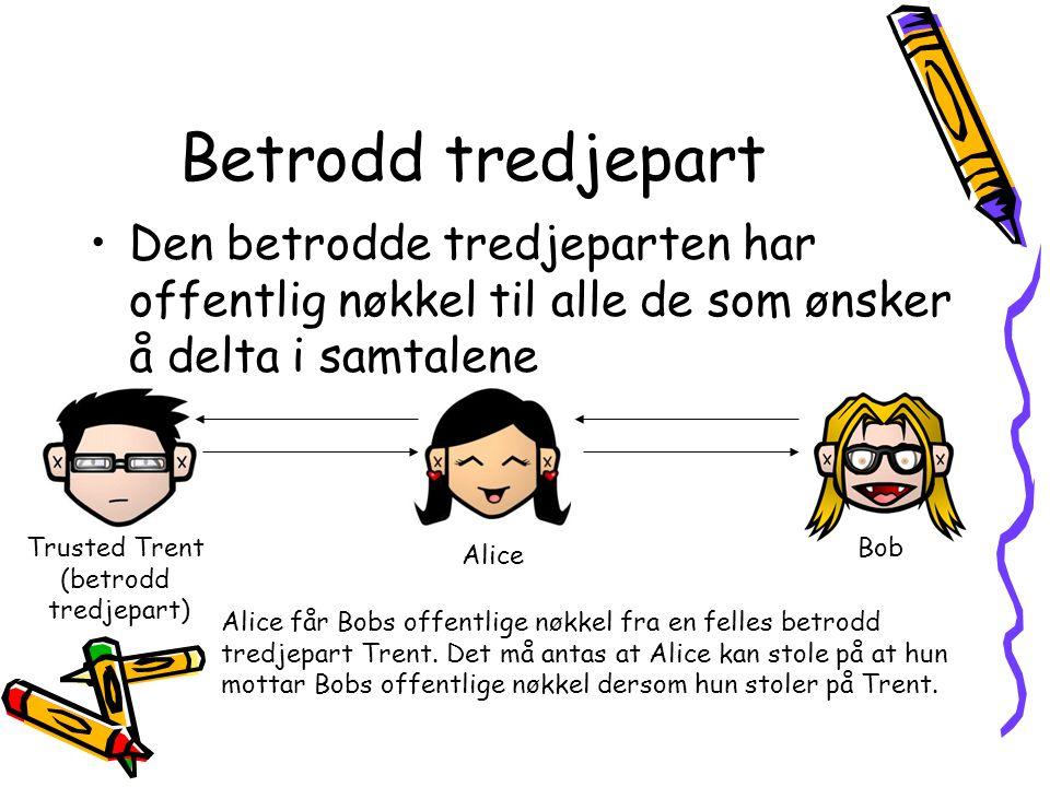 Trusted Trent (betrodd tredjepart)