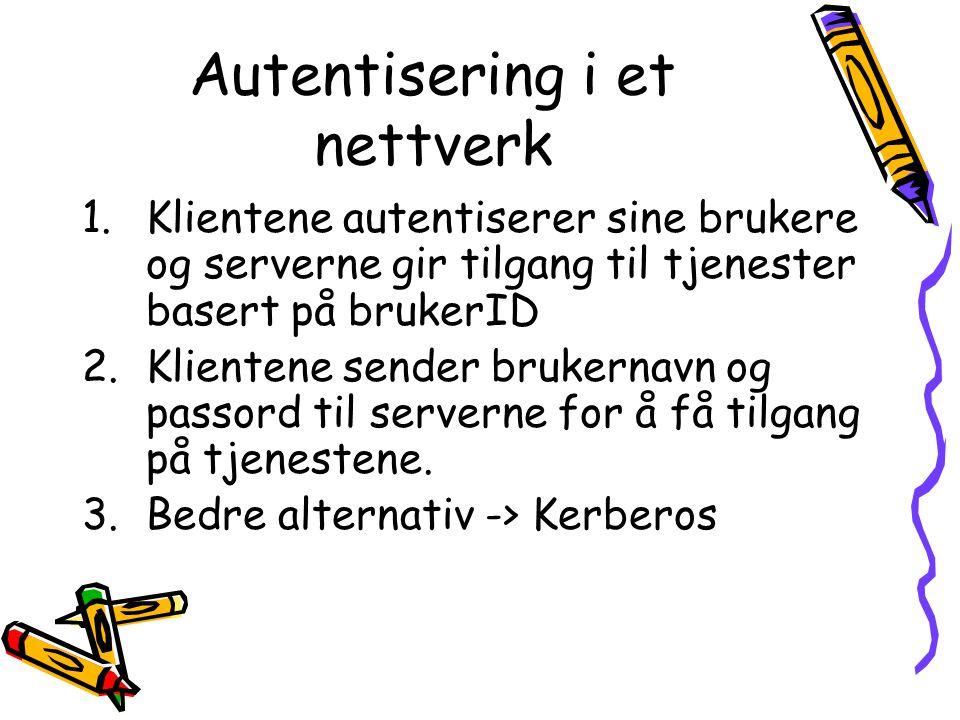 Autentisering i et nettverk
