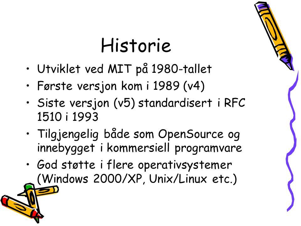 Historie Utviklet ved MIT på 1980-tallet