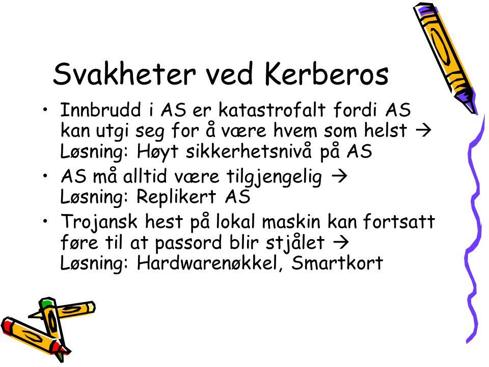 Svakheter ved Kerberos